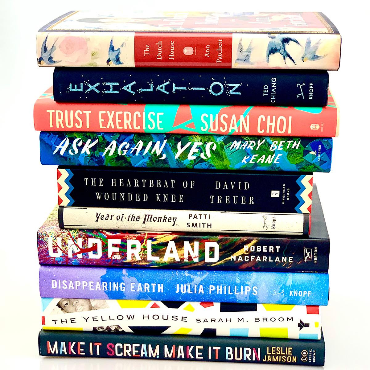 A stack of ten books.